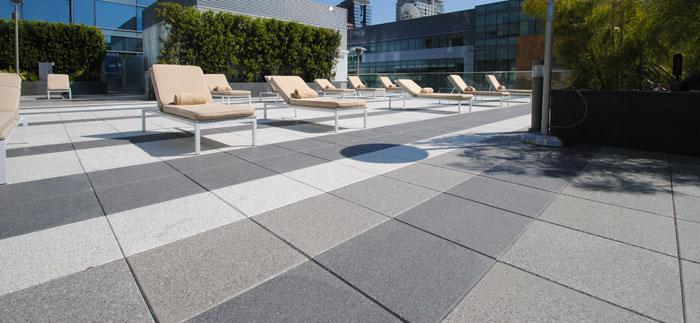 Roof Pavers And Adjustable Pedestal For Roof Decks